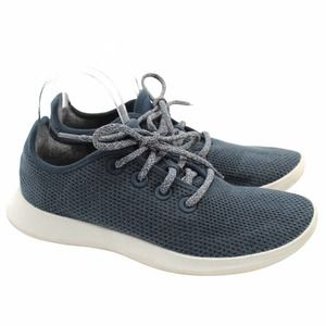 Allbirds Womens Tree Runners Sneakers Blue White Machine Washable Breathable 9